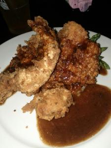 fried chicken sweet tea reduction sauce