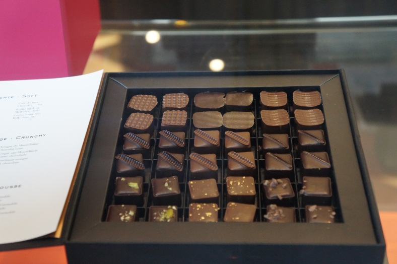 This would be Belgian chocolate with gold flakes. Yes please.