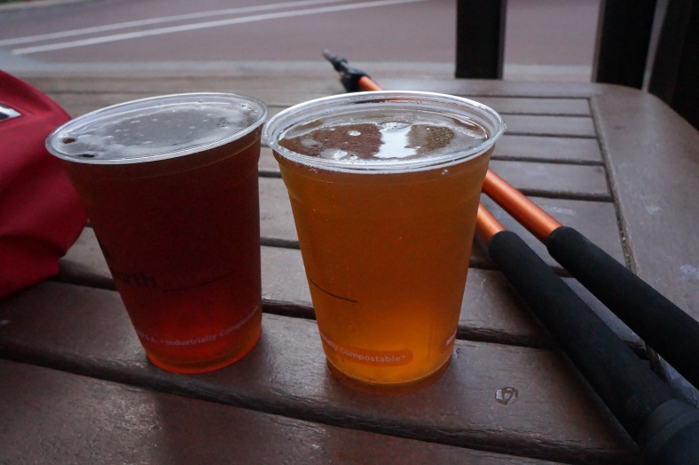 My reward after Angel's Landing, two pints.