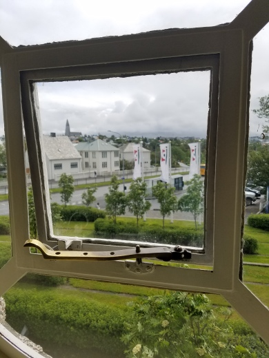 A peek from outside the National Museum of Iceland window :)