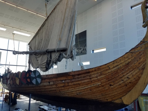 The viking museum, this ship sailed from Iceland to New York to commemorate the 1000 years after vikings landed in North America.