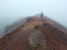 summit of Eldfell on Westman Island.