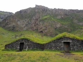 An archaeological rebuild of medieval houses in Heimaey Island. Surprisingly large on the inside