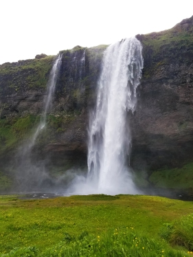 Seljalandsfoss, one of a ton of beautiful waterfalls spread throughout the country.